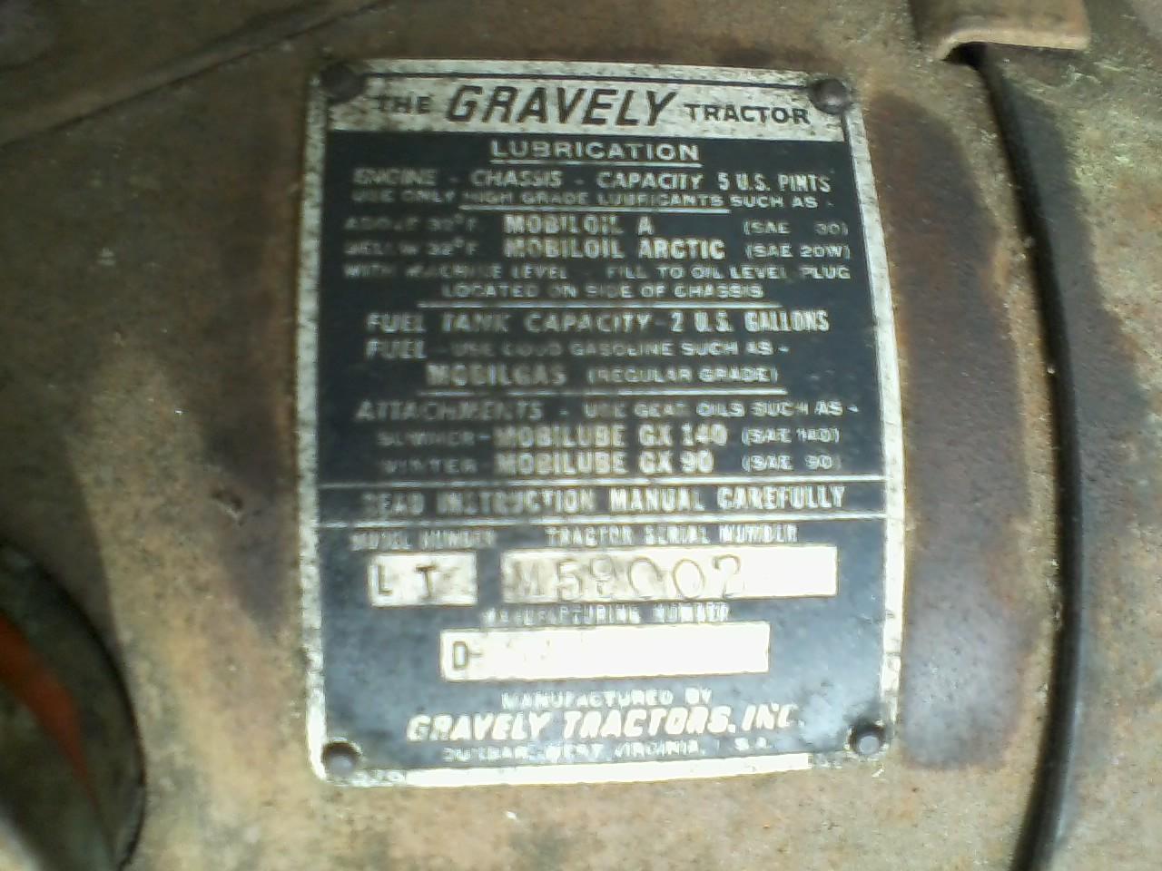 gravely zero turn serial numbers